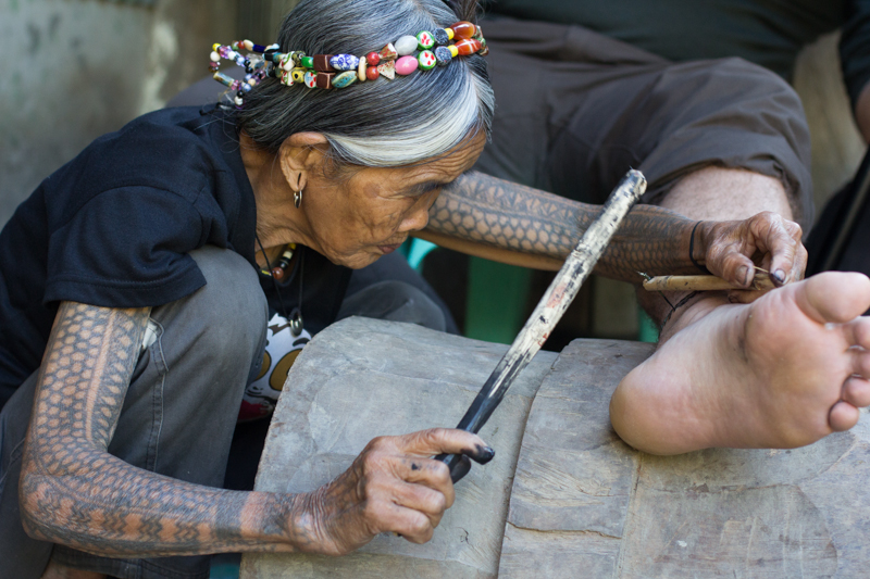 Whang Od tattooing (2012)