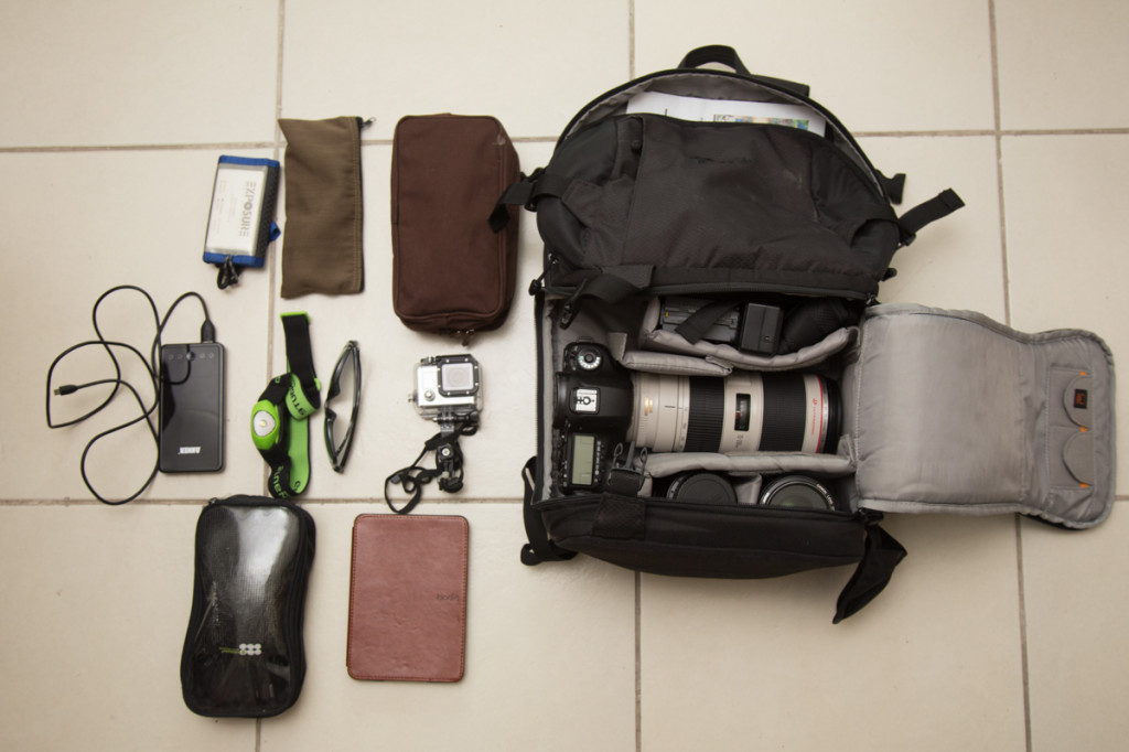 with Lowepro Video Pack 350 AW