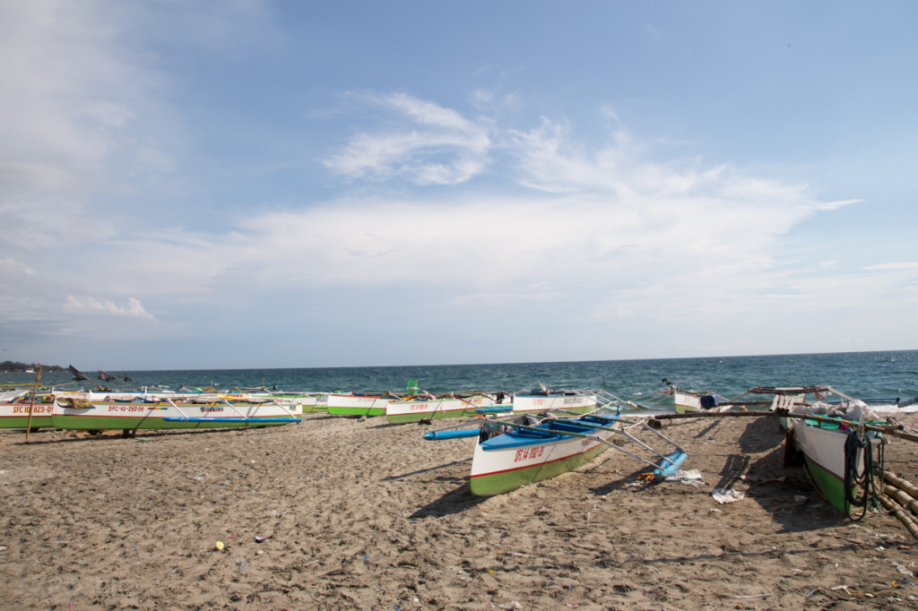 Fishermen's boats in La Union