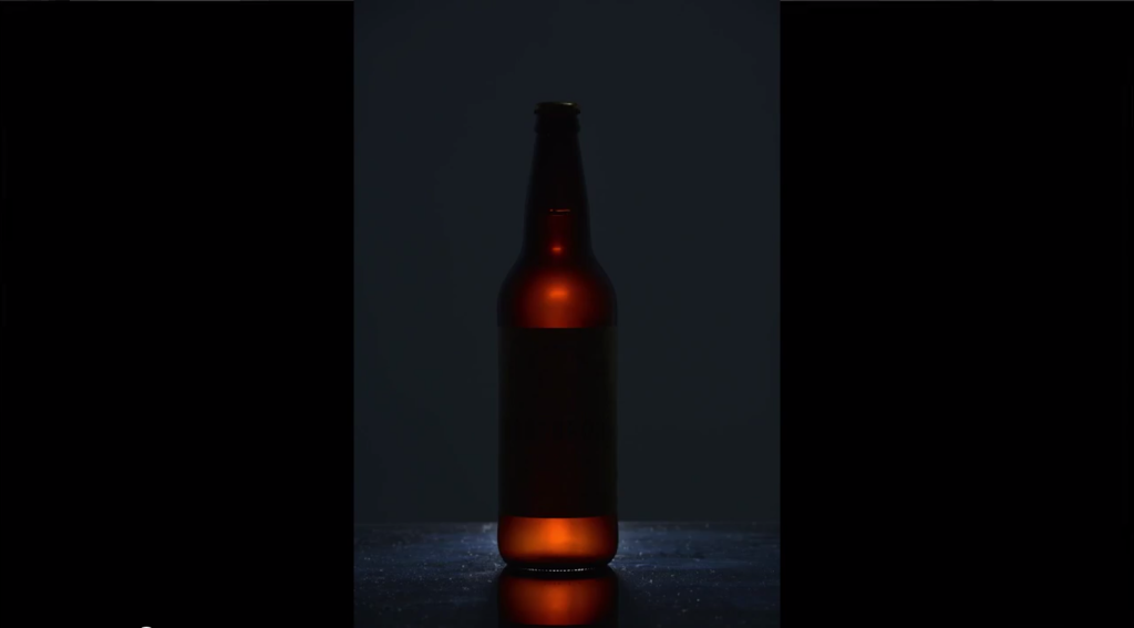 One light behind the bottle