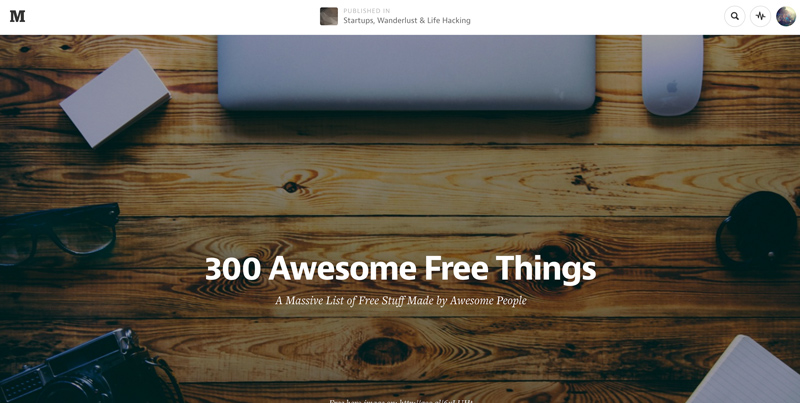Quite possibly the best list of free tools for startups on the internet.