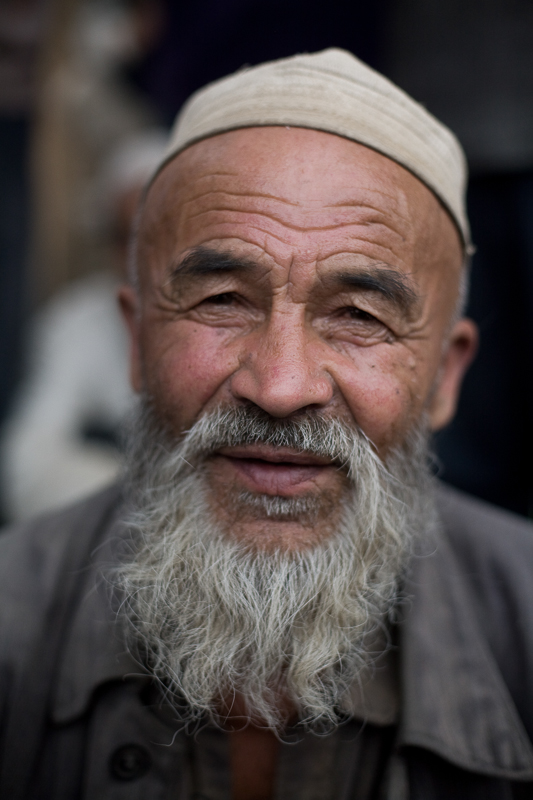 Old man in small village outside Khotan, 2008
