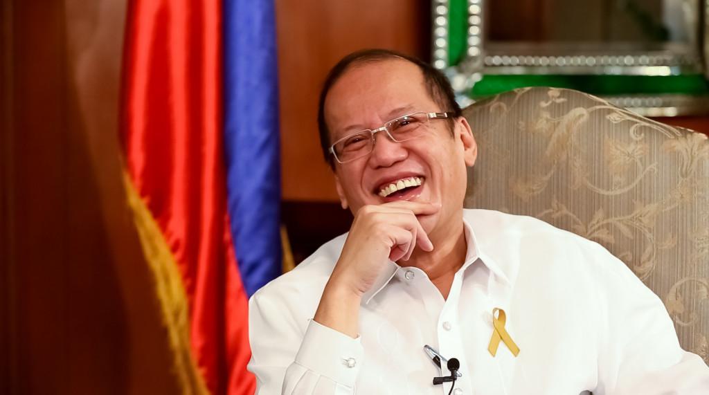 Having fun with President Aquino