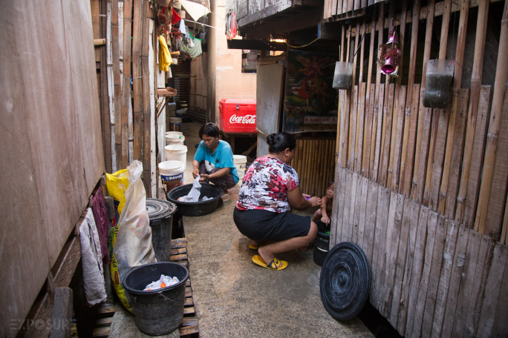 No private bathroom, all washing is done in the middle of the way between houses.
