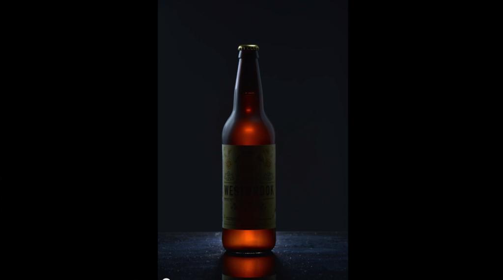 Third light left of bottle