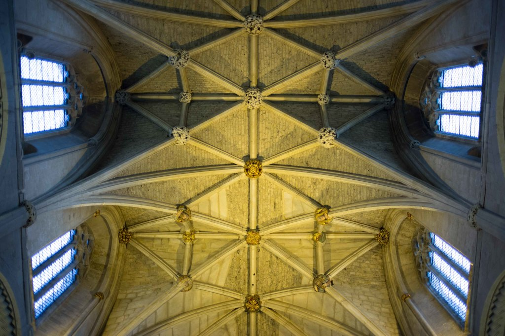 The abbey ceiling