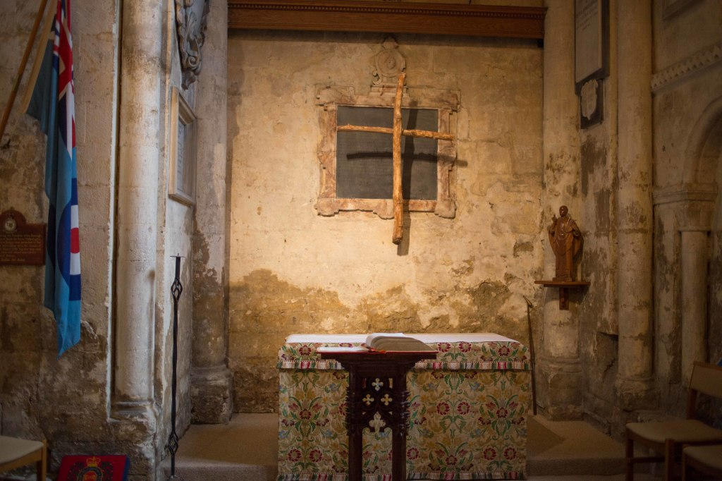 A parvise inside the abbey