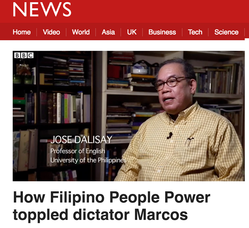 Jose Dalisay video interview for BBC Witness.